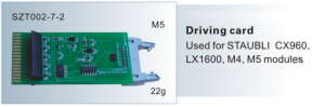 Driving card Used for STAUBLI CX960,LX1600,M4,M5 module