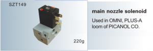 Main nozzle solenoid Used in OMNI, PLUS-A loom of PICANOL SZT149