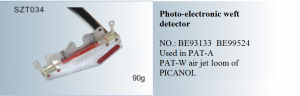 Photo-electronic detector NO. BE93133 BE99524 Used in PAT-A PAT-W  air-jet loom of PICANOL SZT034