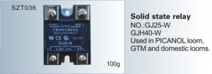 Solid state relay NO. GJ25-W  GJH40-W  Used in PICANOL loom, GTM  SZT036