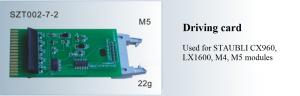 Vỉ kết nối Modules STAUBLI CX960, LX1600, M4, M5 SZT002-7-2