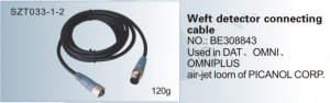 Weft detector connecting cable NO. BE308843 Used in DAT, OMNI , OMNIPLUS air-jet loom of PICANOL SZT033-1-2
