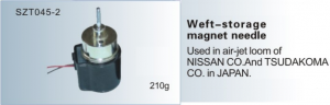 Weft-storage magnet needle Used in air-jet loom of NISSAN , TSUDAKOMA  SZT045-2